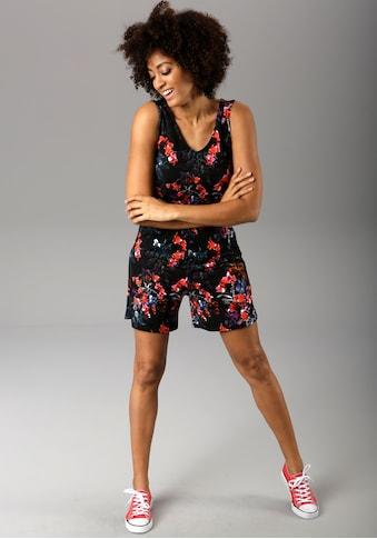 Aniston CASUAL Kurzoverall, mit bunten Blumendruck in 3D-Optik - NEUE KOLLEKTION kaufen