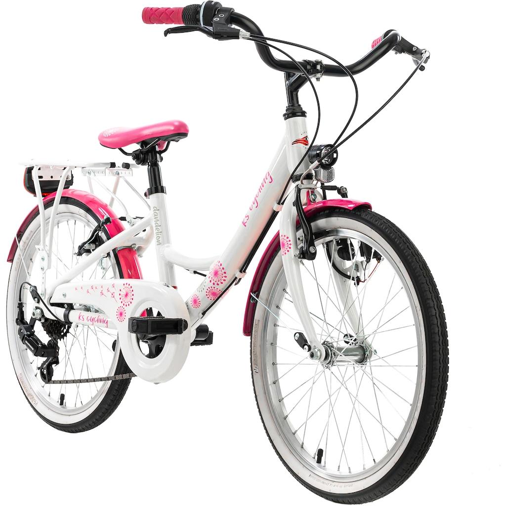 KS Cycling Kinderfahrrad »Dandelion«, 7 Gang Shimano Tourney Schaltwerk, Kettenschaltung
