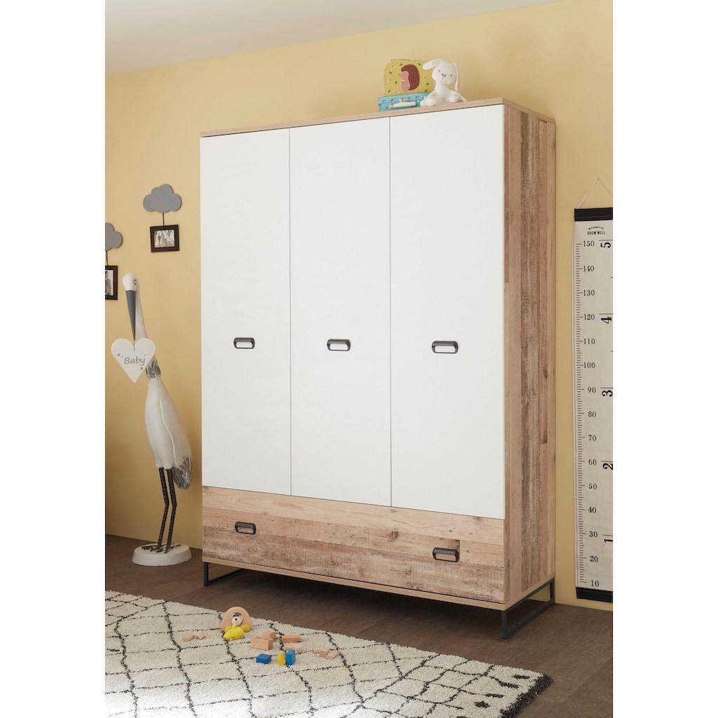 Babyzimmer-Komplettset »Ronny«, (Set, 3 tlg.), Bett + Wickelkommode + 3-trg. Schrank