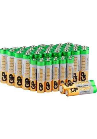 GP Batteries Batterie »Super Alkaline 1,5V AAA (12 St) +AA Batterie (32 St)«, 1,5 V,... kaufen