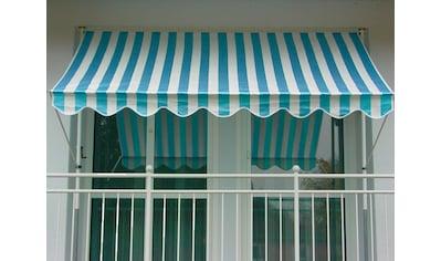 ANGERER FREIZEITMÖBEL Klemmmarkise blau/weiß, Ausfall: 150 cm, versch. Breiten kaufen
