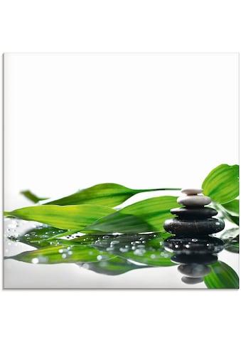 Artland Glasbild »Spa mit Steinen und Bambus« kaufen