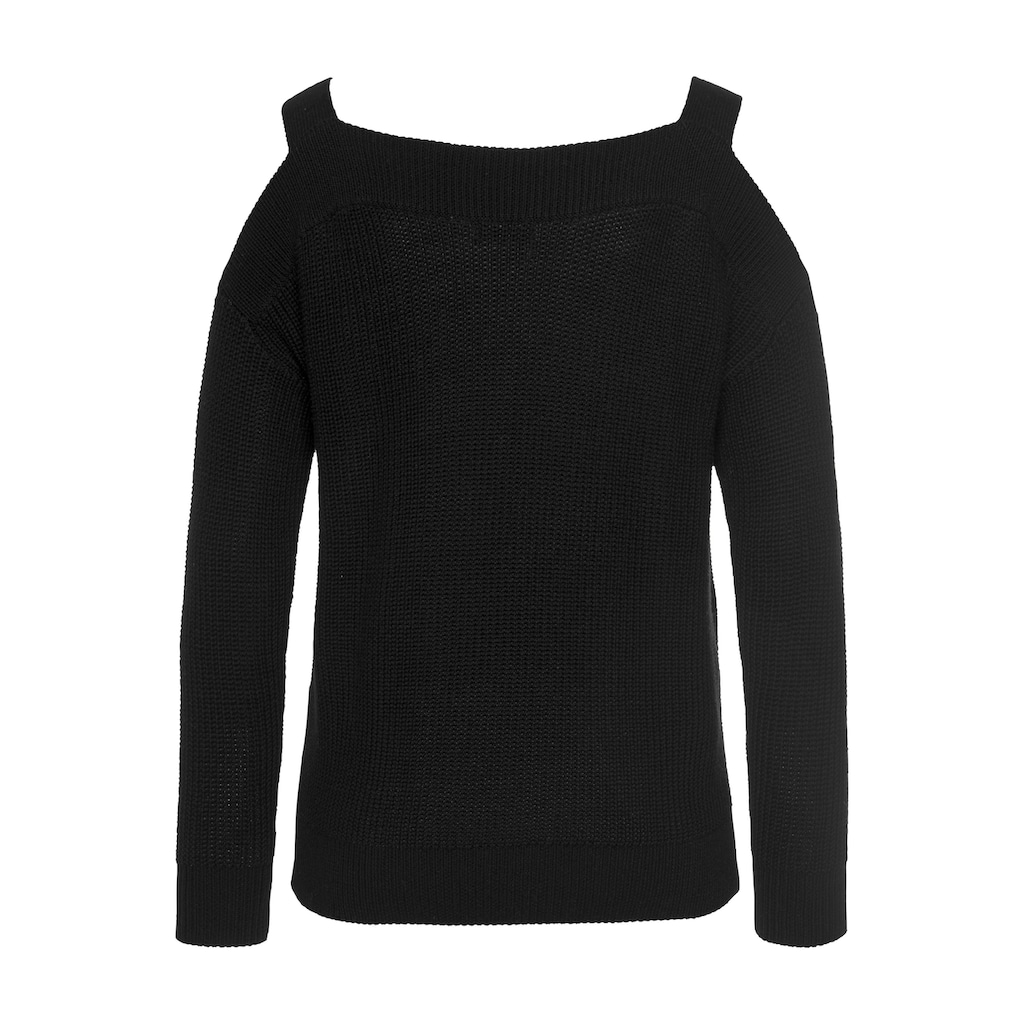 LASCANA Strickpullover, mit Cut-outs