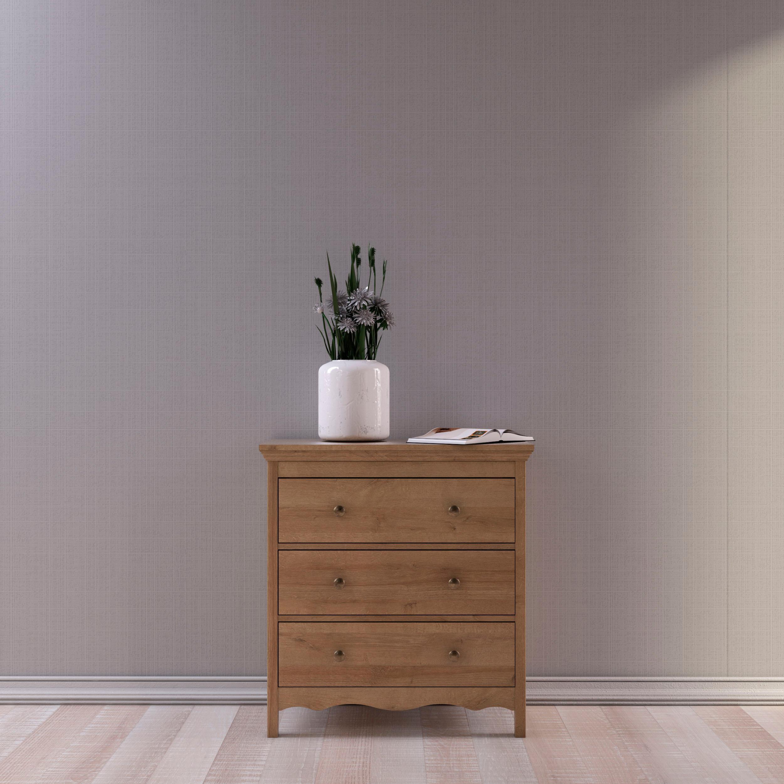 Home Affaire Kommode Silkeborg Aus Foliertem Holzwerkstoff Mit Eichenholz Optik Mit Metallgriffen Breite 82 Cm