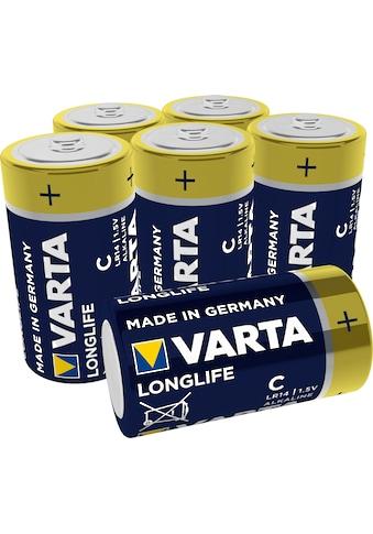 VARTA »LONGLIFE Alkaline Batterie C Baby LR14 6er Pack Made in Germany« Batterie kaufen