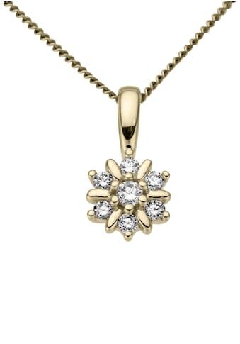 Firetti Kettenanhänger »Blume, glanz, massiv«, mit Brillanten kaufen