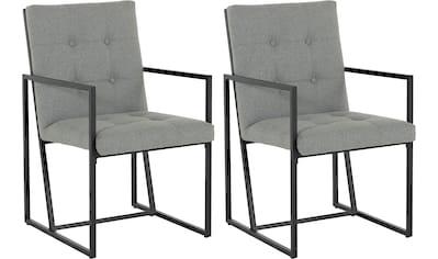 Guido Maria Kretschmer Home&Living Esszimmerstuhl »Silwai«, 2er-Set, Sitz -und Rücken... kaufen
