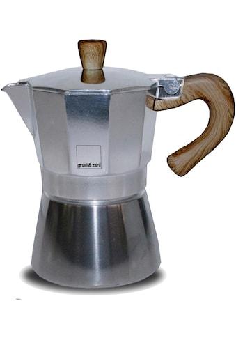 gnali & zani Espressokocher »Venezia«, Induktion, silberfarben kaufen