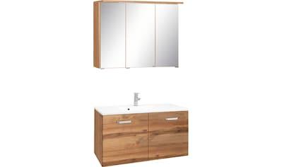 HELD MÖBEL Badmöbel-Set »Ravenna«, (2 tlg.), Breite 90 cm, Spiegelschrank und Waschtisch kaufen