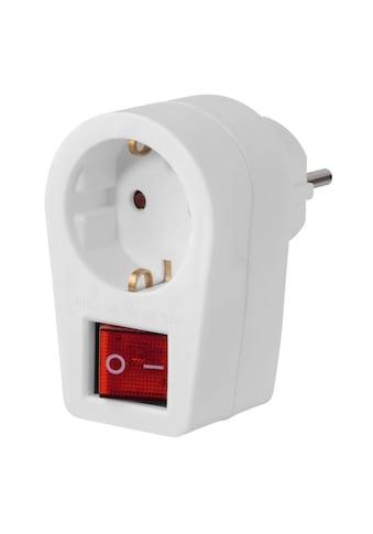 Hama Steckdosenadapter mit 2 - poligen Schalter kaufen