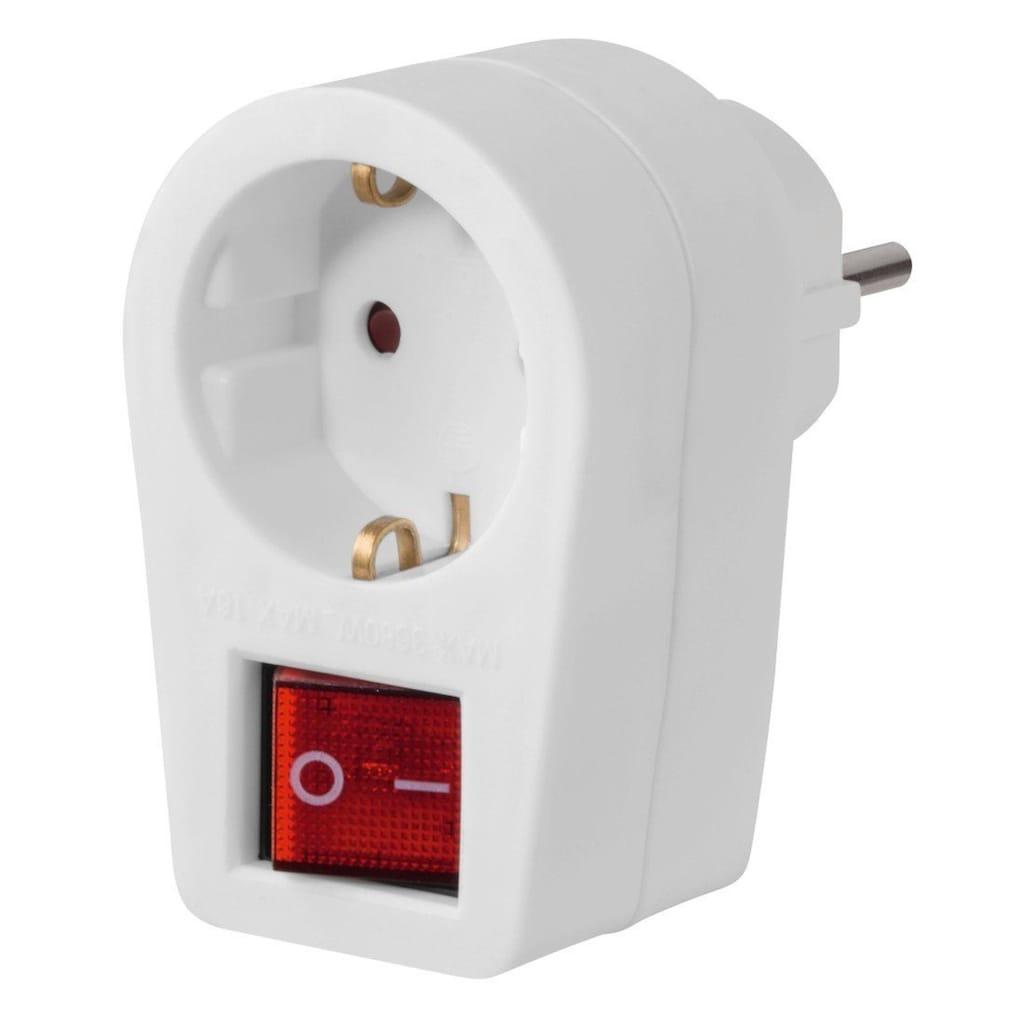 Hama Steckdosenadapter mit 2-poligen Schalter
