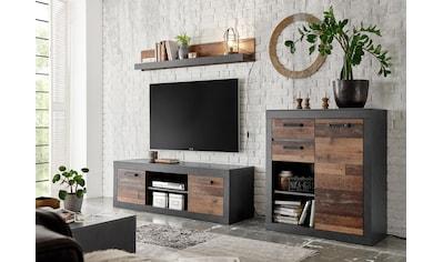 Home affaire Wohnwand »BROOKLYN«, in dekorativer Rahmenoptik kaufen