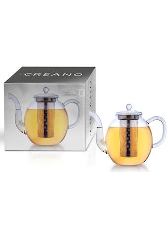 Creano Teekanne, 1,5 l, Borosilikatglas, inkl. Edelstahlfilter kaufen
