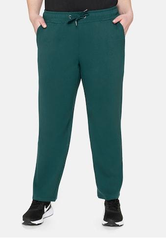 Sheego Sporthose, aus Funktionsmaterial, in gerader Form kaufen
