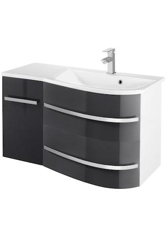 WELLTIME Waschtisch »OSLO«, Breite 90cm 2tlg. , geschwungene Form, Ablage links kaufen