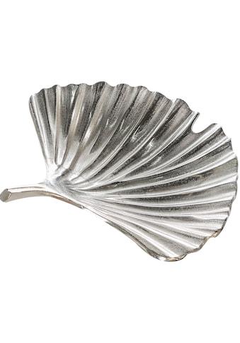 GILDE Dekoschale »Schale Ginkgo Alu, antik silberfarben«, aus Metall, Blattform, Wohnzimmer kaufen
