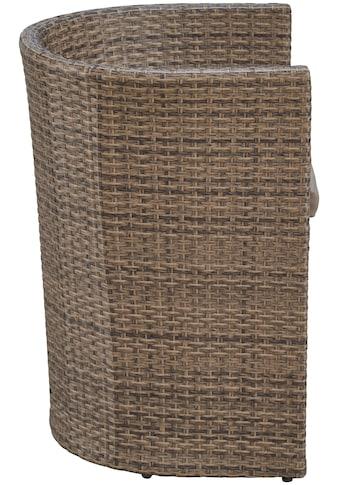 MERXX Gartenmöbelset »Ancona Wicker«, 5 - tlg., 2 Sessel, ovaler Tisch, Polyrattan kaufen