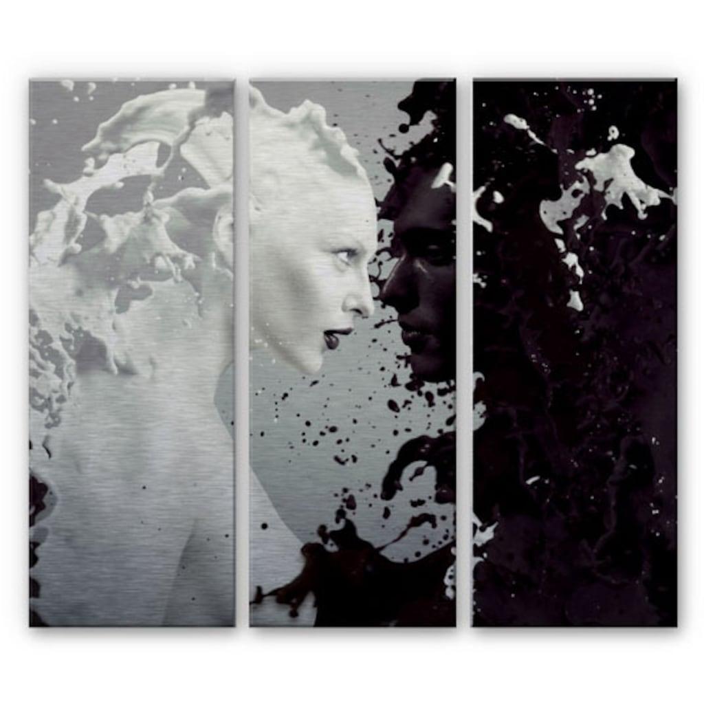 Wall-Art Mehrteilige Bilder »Milch und Kaffee Liebe Set«, (Set, 3 St.)