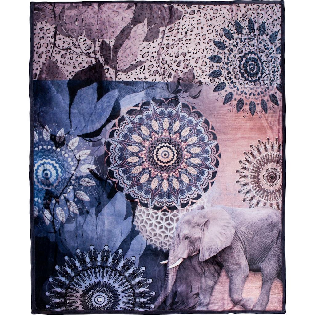 hip Plaid »Bjirke«, mit Mandala und Elefant