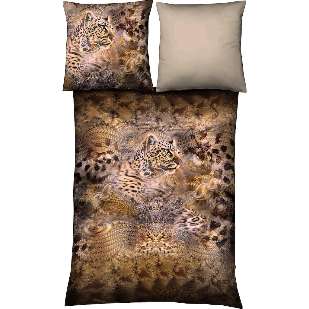 fleuresse Wendebettwäsche »Aspen 4014«, Leoparden Safari