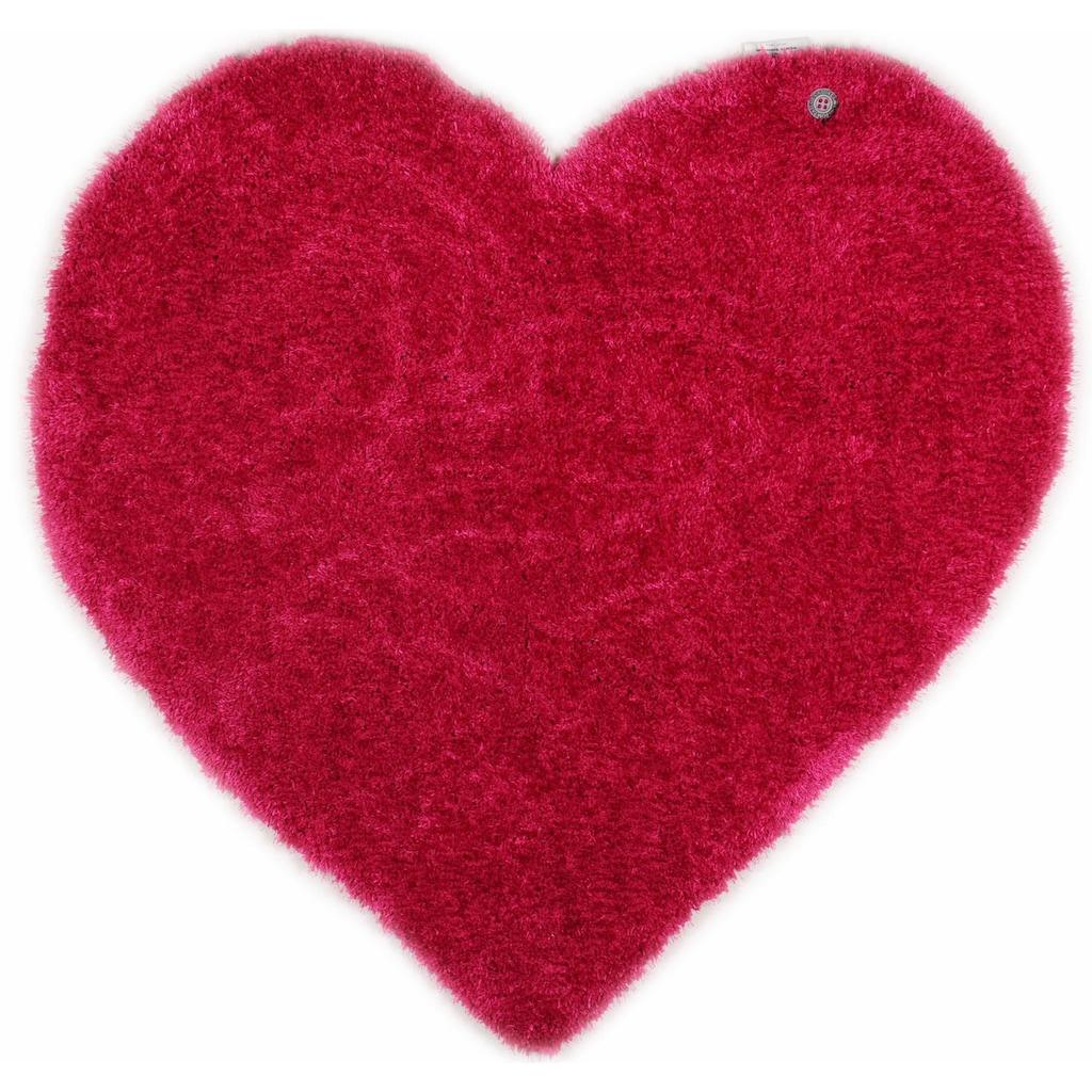 TOM TAILOR Kinderteppich »Soft Herz«, herzförmig, 35 mm Höhe, super weich und flauschig