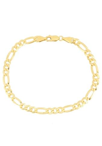 Firetti Armband »in Figarokettengliederung, 5,3 mm, glänzend, vergoldet, klassisch, zeitlos, 6 - fach diamantiert« kaufen