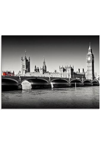 Artland Glasbild »Houses of Parliament & Themse«, Großbritannien, (1 St.) kaufen