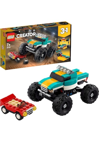 LEGO® Konstruktionsspielsteine »Monster-Truck(31101), LEGO® Creator 3in1«, (163 St.),... kaufen