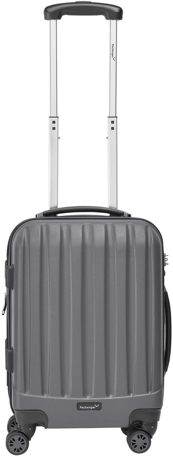 Packenger Hartschalen-Trolley ´´Velvet´´, 4 Rollen   Taschen > Koffer & Trolleys > Trolleys   Grau   Packenger