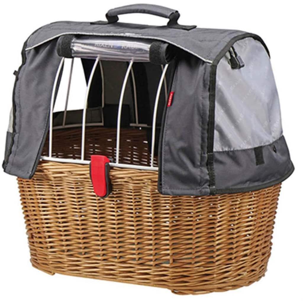 KlickFix Fahrradkorb »Weidenkorb Doggy Basket Plus«