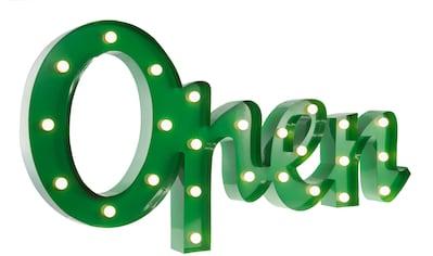 MARQUEE LIGHTS LED Dekolicht »Open Schriftzug«, 1 St., Warmweiß, Wandlampe, Tischlampe Open mit 25 festverbauten LEDs - 77cm Breit und 38cm hoch kaufen