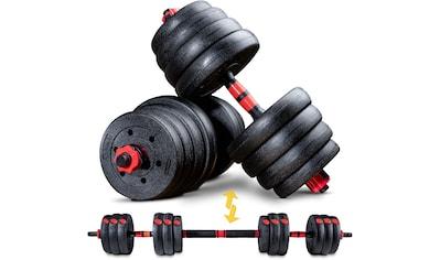 Sportstech Hantel »AH150, 30kg«, 30,5 kg, (Spar-Set, 15 tlg., mit Langhantelstange) kaufen