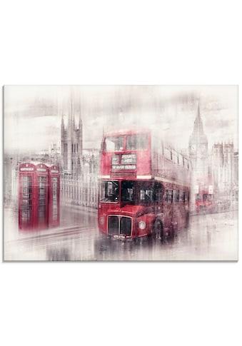 Artland Glasbild »London Westminster Collage«, Gebäude, (1 St.) kaufen