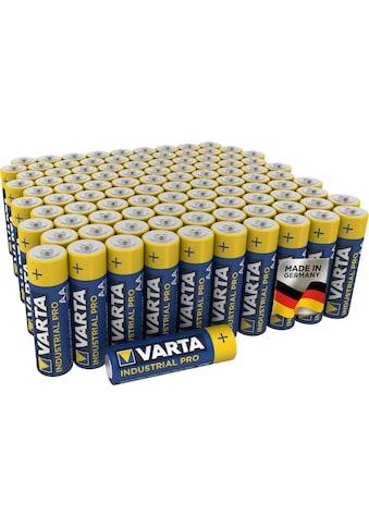 VARTA »Varta Industrial Pro Batterie AA Mignon Alkaline Batterien LR6 umweltschonende Verpackung 100er Batterien Pack Made in Germany« Batterie (100 Stück) kaufen