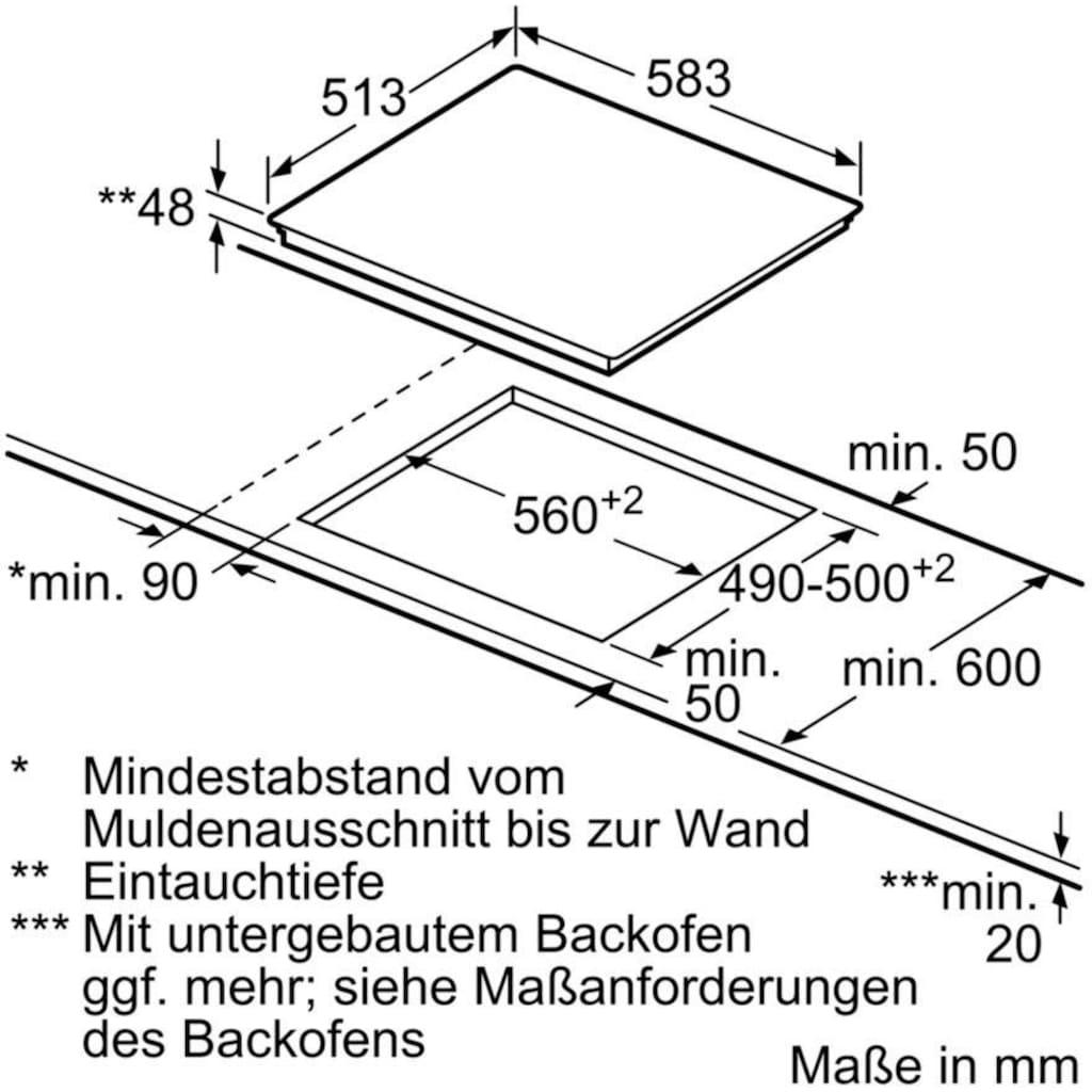 SIEMENS Elektro-Kochfeld von SCHOTT CERAN® iQ300 ET645HN17E