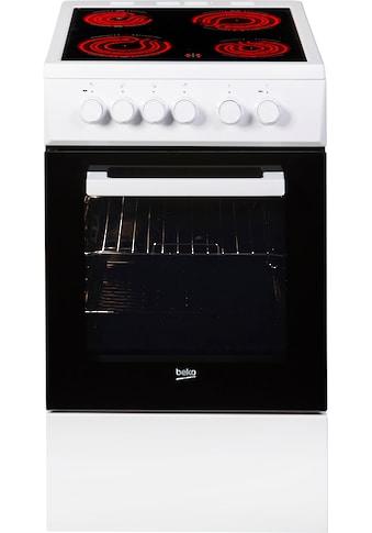 BEKO Elektro-Standherd »FSS57000GW«, FSS57000GW, mit Backauszug, Simple Steam... kaufen