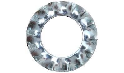 RAMSES Fächerscheibe , M12 Form A außengezahnt DIN 6798 Stahl verzinkt 100 Stück kaufen