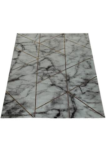 Paco Home Teppich »Kraft 524«, rechteckig, 17 mm Höhe, Kurzflor mit Marmor-Design,... kaufen