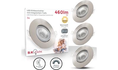 B.K.Licht LED Einbauleuchte, LED-Board, 3 St., Warmweiß, Einbauspots Einbaustrahler schwenkbar ultra-flach inkl. Leuchtmittel 5W 460 Lumen warmweiß matt-nickel kaufen