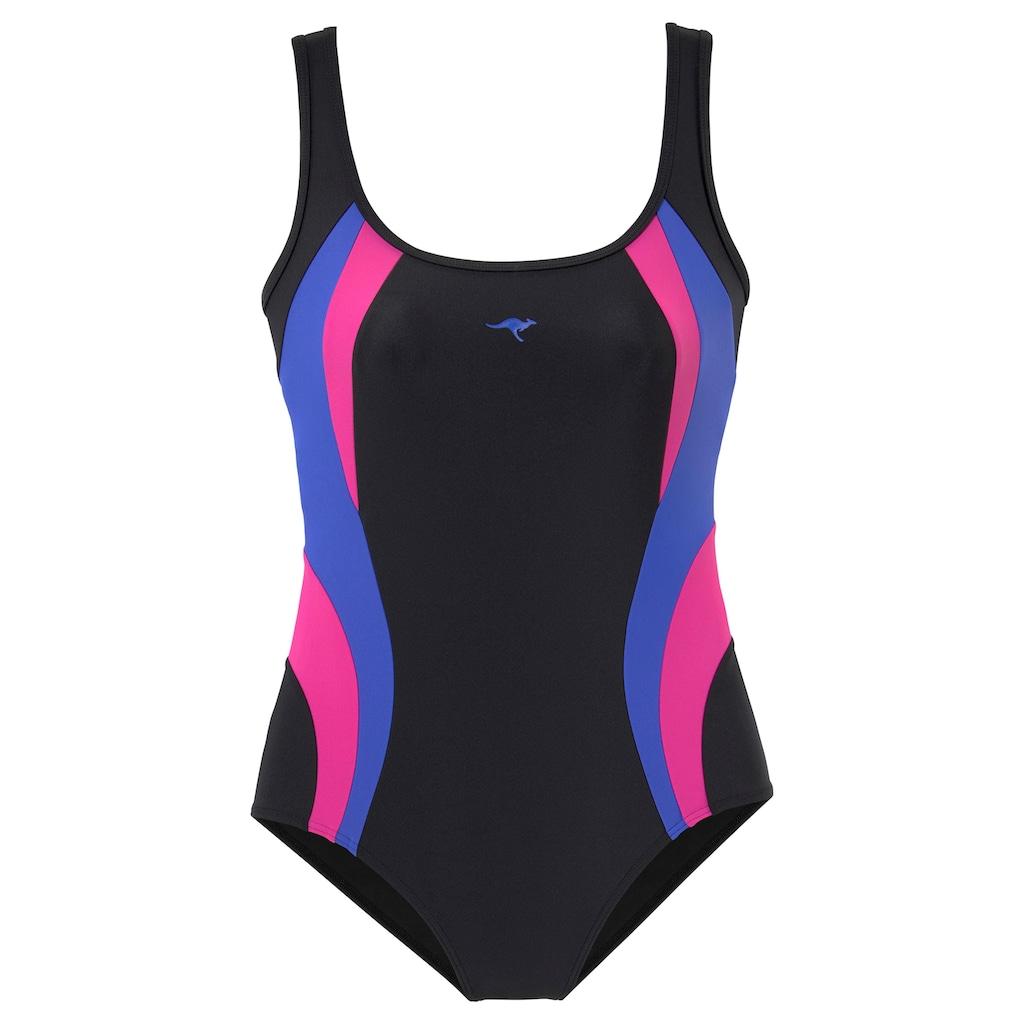 KangaROOS Badeanzug, mit kontrastfarbenen Einsätzen