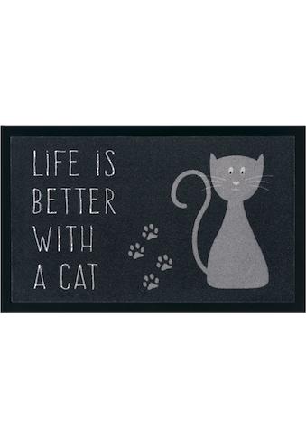 Fußmatte, »Katze«, my home, rechteckig, Höhe 5 mm, maschinell gewebt kaufen