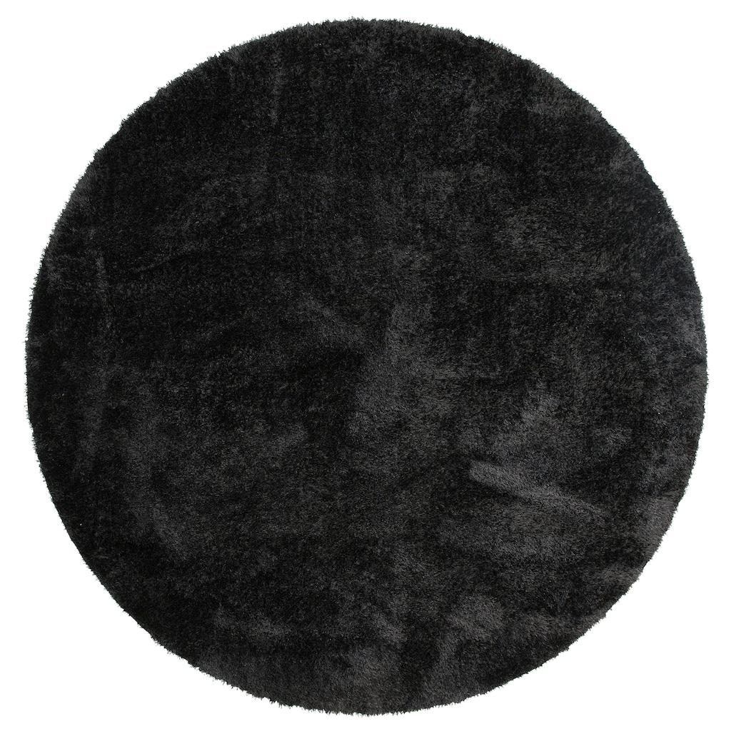 Home affaire Hochflor-Teppich »Malin«, rund, 43 mm Höhe, Besonder weich durch Microfaser