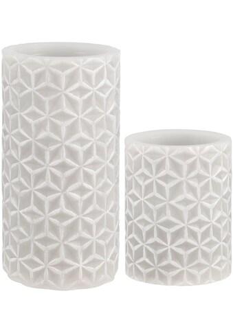 Pauleen LED-Kerze »Cosy Ornament«, Wachskerze Timer Grau kaufen