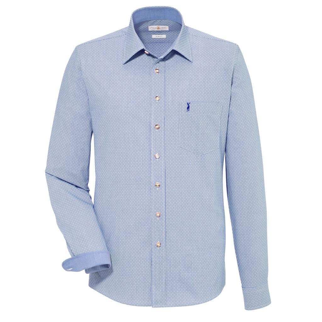 Almsach Trachtenhemd, mit kleiner Hirschstickerei