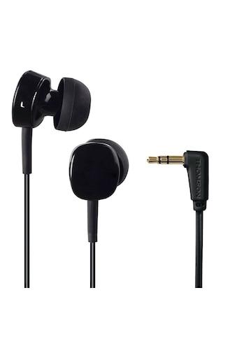 Thomson In - Ear Stereo Ohrhörer Kopfhörer Earphone mit Winkelstecker »EAR3056B, Schwarz« kaufen