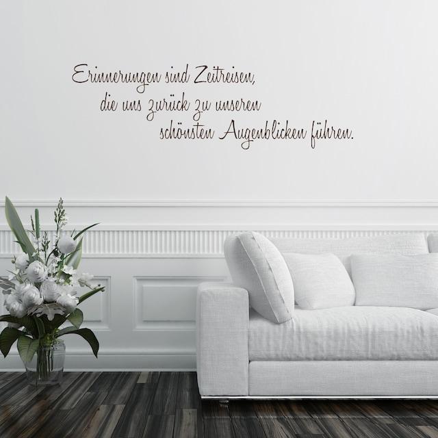 Home affaire Wandtattoo »Erinnerungen sind ...«