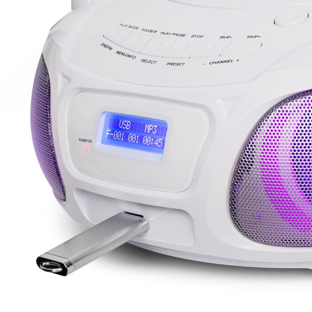Auna CD-Player DAB/DAB+ UKW LED Disco Light Effect USSB Bluetooth