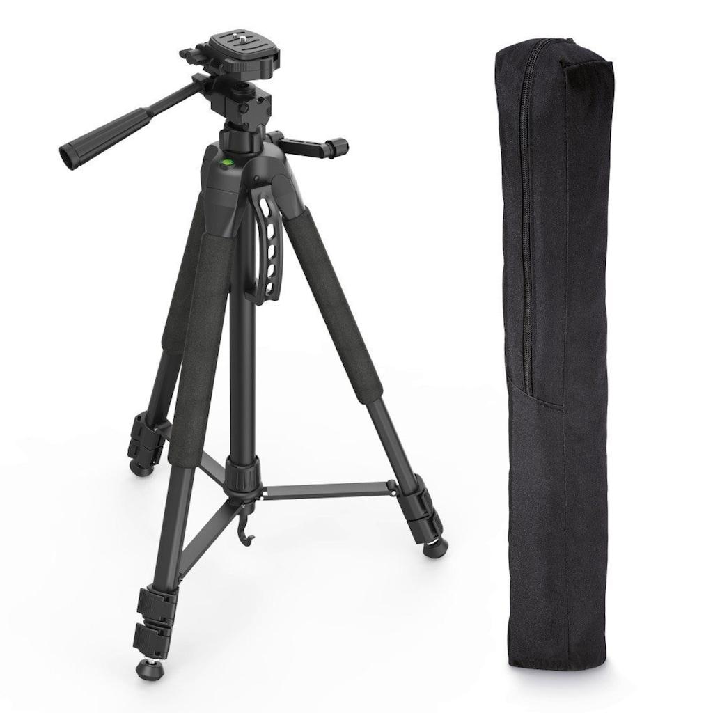 Hama Fotostativ mit 3-Wege-Kopf und Spikes, Reisestativ Tripod »Stativ für Kamera, DSLR, SLR«