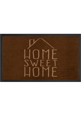 HANSE Home Fußmatte »Sweet Home«, rechteckig, 5 mm Höhe, Schmutzfangmatte, mit Spruch,... kaufen