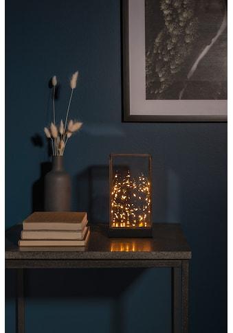 KONSTSMIDE LED Glaslaterne rechteckig mit schwarzem Holzfundament kaufen